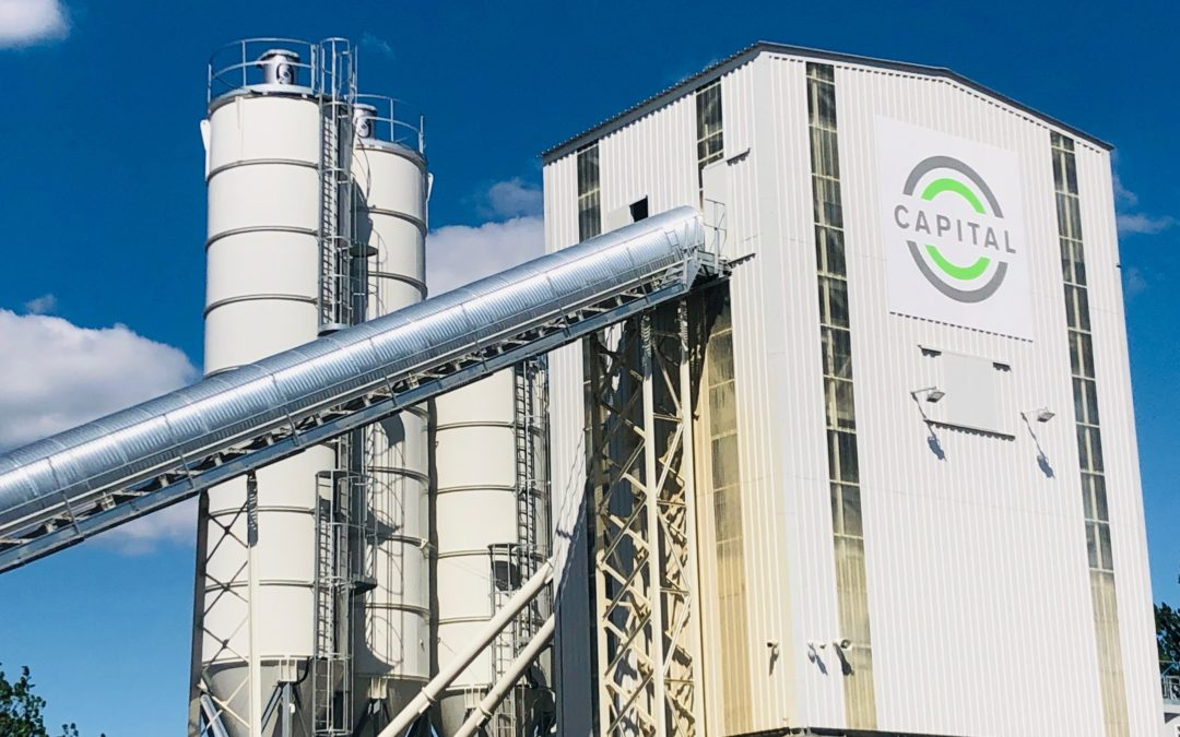 Leading concrete supplier Capital Concrete debuts two 60-tonne silos of ground-breaking ultra-low-carbon cement replacement, Cemfree, at new London plants