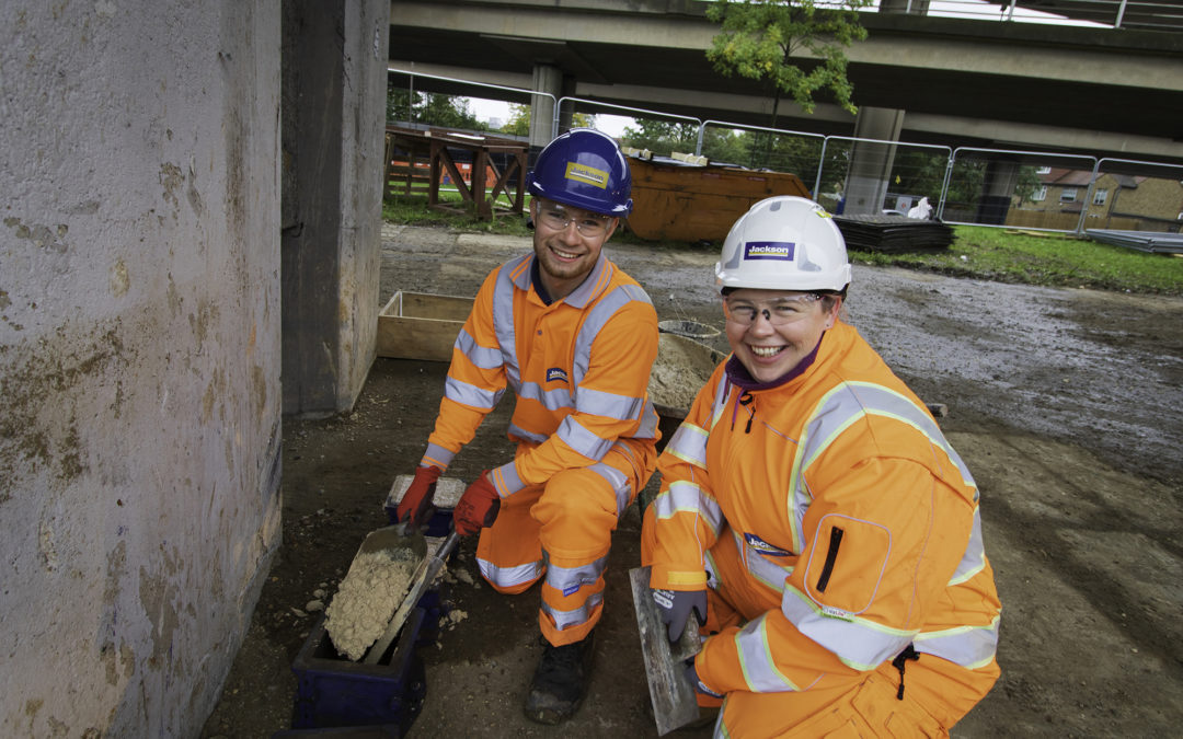 Cemfree ultra-low carbon cement used on the M25