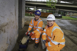 Cemfree, ultra-low carbon concrete used on the M25 alongside Jackson Civils and Axtell