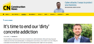 Cemfree's Adam Gittins writes in Construction News - 16 July 2020
