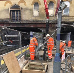 Cemfree poured with Network Rail