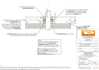 Slab Penetration Detail Post Drilled