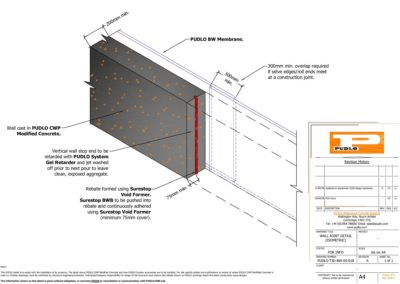 Wall Joint Detail Isometric