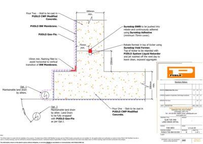 Slab and Land Drain Detail