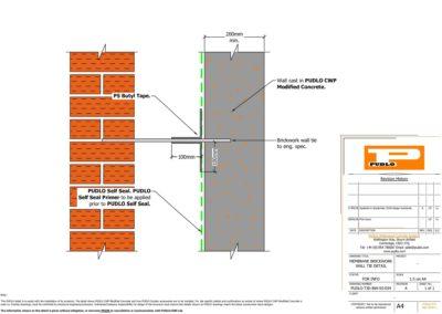 Membrane Brickwork Wall Tie Detail