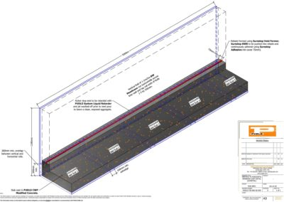 Vertical to Horizontal Membrane Joint Detail Isometric