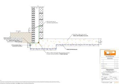 Ground Retaining Slab to DPC Detail