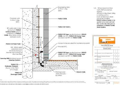 Block Work Cavity Wall Detail