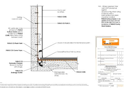 Existing Wall Cavity Drain Detail