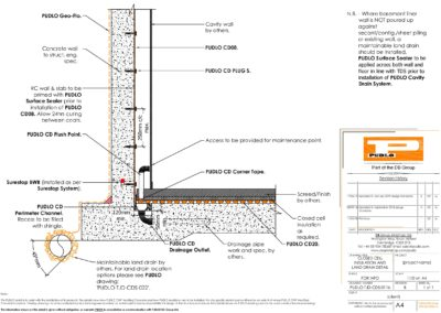 Closed Cell Insulation and Land Drain