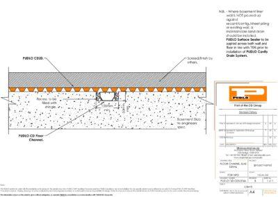Floor Channel Slab Detail