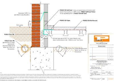 Beam and Block Floor to DPC Detail