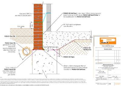 Raft Slab to DPC Detail
