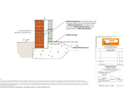 Membrane Above RC Slab to DPC Detail