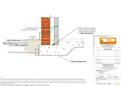 Membrane Below RC Slab to DPC Detail
