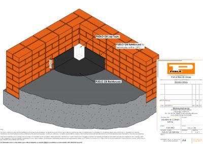 Membrane Corner Detail Isometric