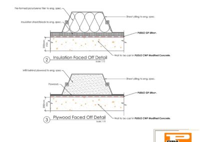 Faced Off Sheet Pile Detail