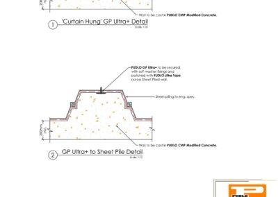 Non faced Off Sheet Pile Detail