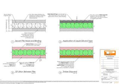 Secant Pile Head Detail