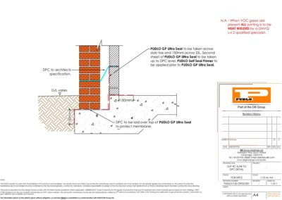 GF RC Slab to DPC Detail