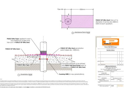 Slab Pipe Penetration Detail