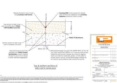 Deep Slab Construction Joint Detail