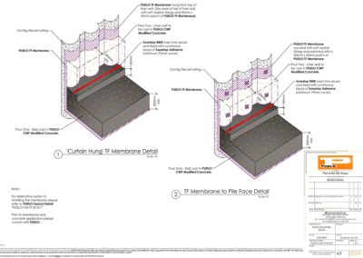 Wall Piling Detail Isometric