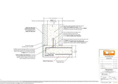 Steel Waterbar Twin Wall Detail