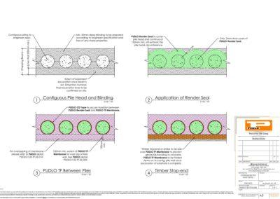 Contiguous Pile Head Detail