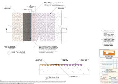 Flooring Membrane Jointing Detail