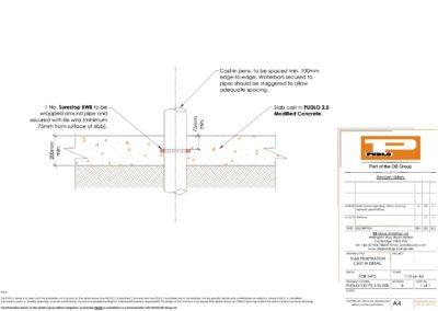 Slab Penetration Detail (Cast-in)