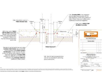 Slab Penetration Detail (Box Out)