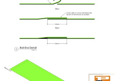 Membrane Roll End Jointing Detail