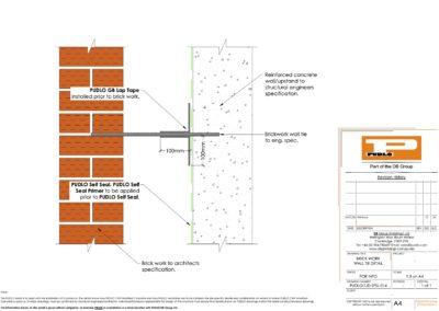 Brick Work Wall Tie Detail